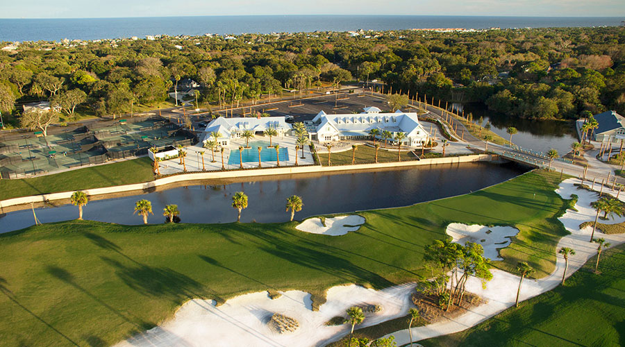 aerial view of Atlantic Beach Country Club