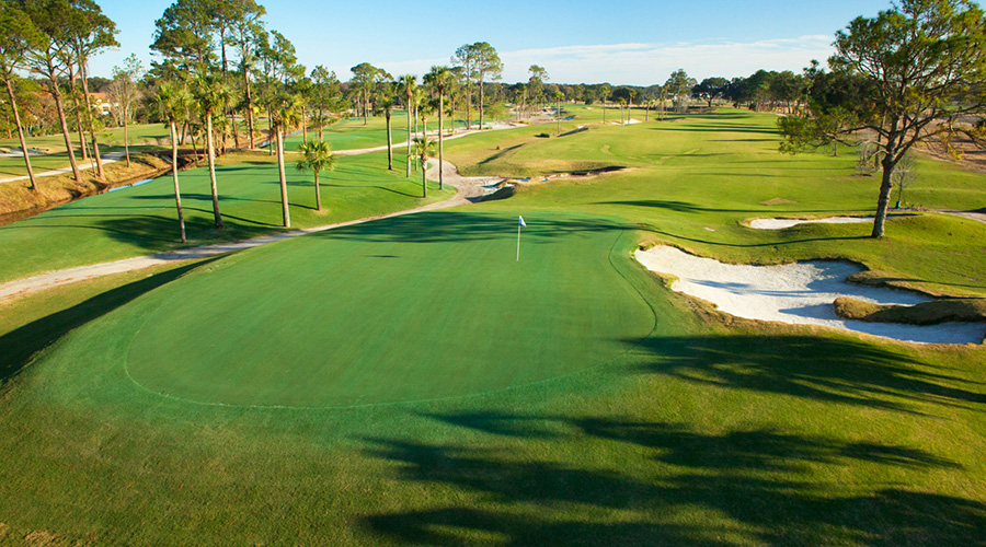 bird's eye view of Atlantic Beach Country Club golf course