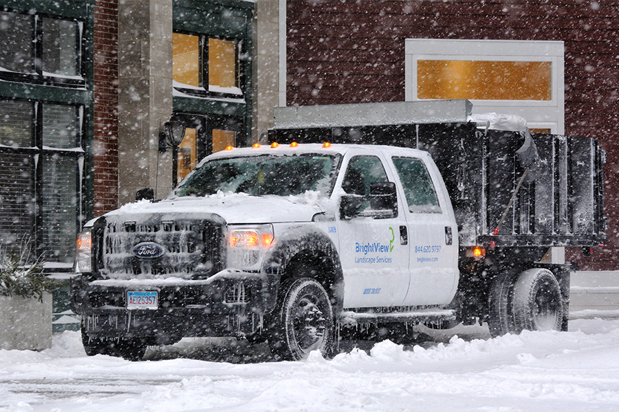 BrightView Truck Snow Removal