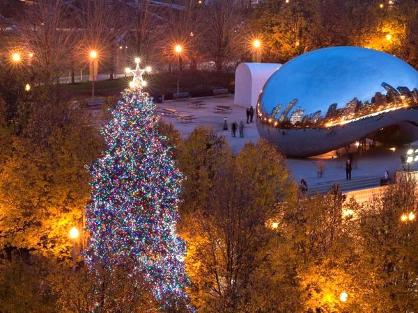 BrightView installs Christmas Tree in Millenium Park