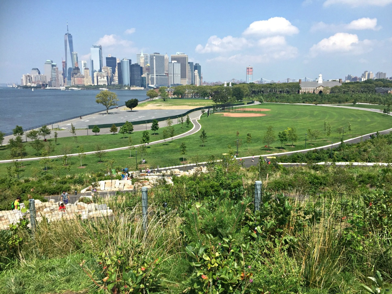 New York Skyline from Outlook Hill on Governors Island