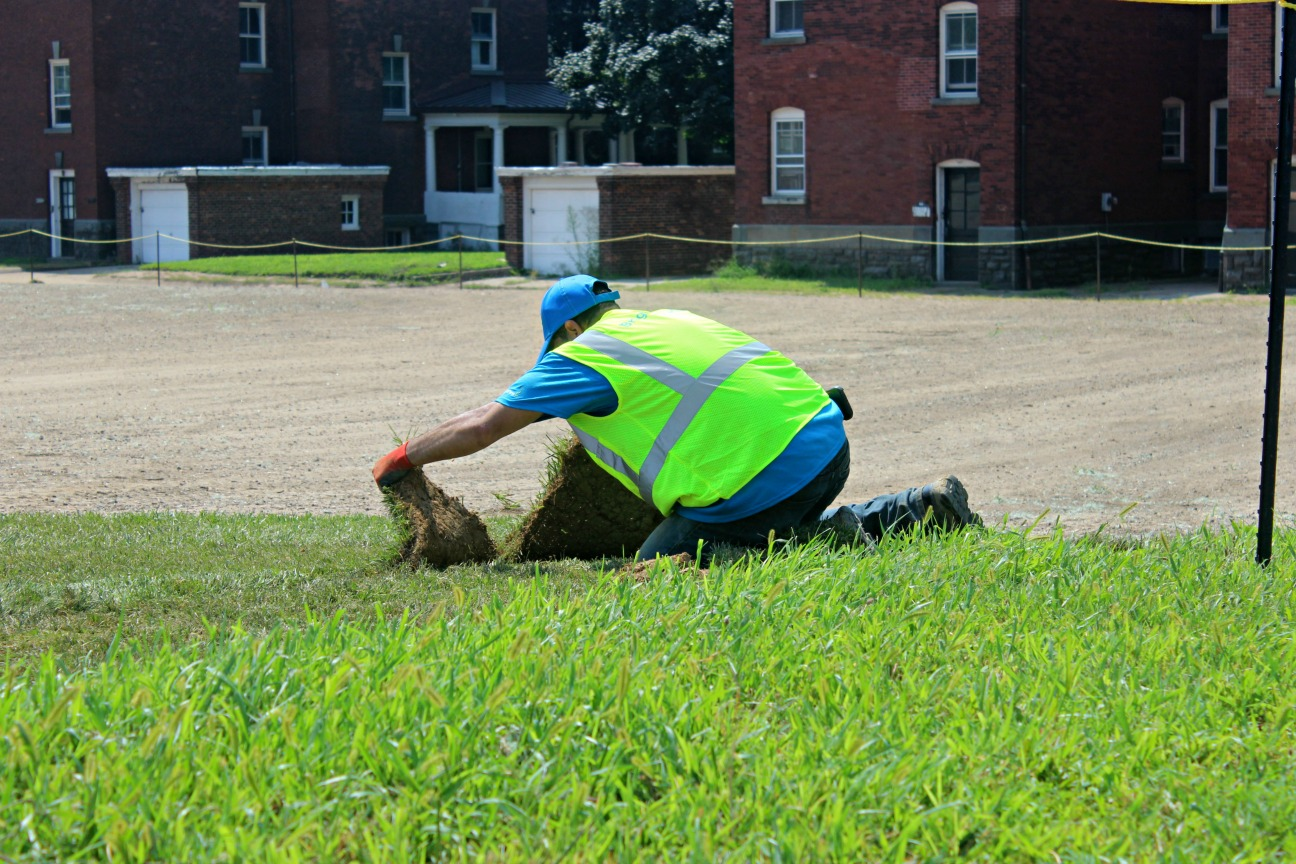 BrightView Installs new turf on Parade Grounds on Governors Island