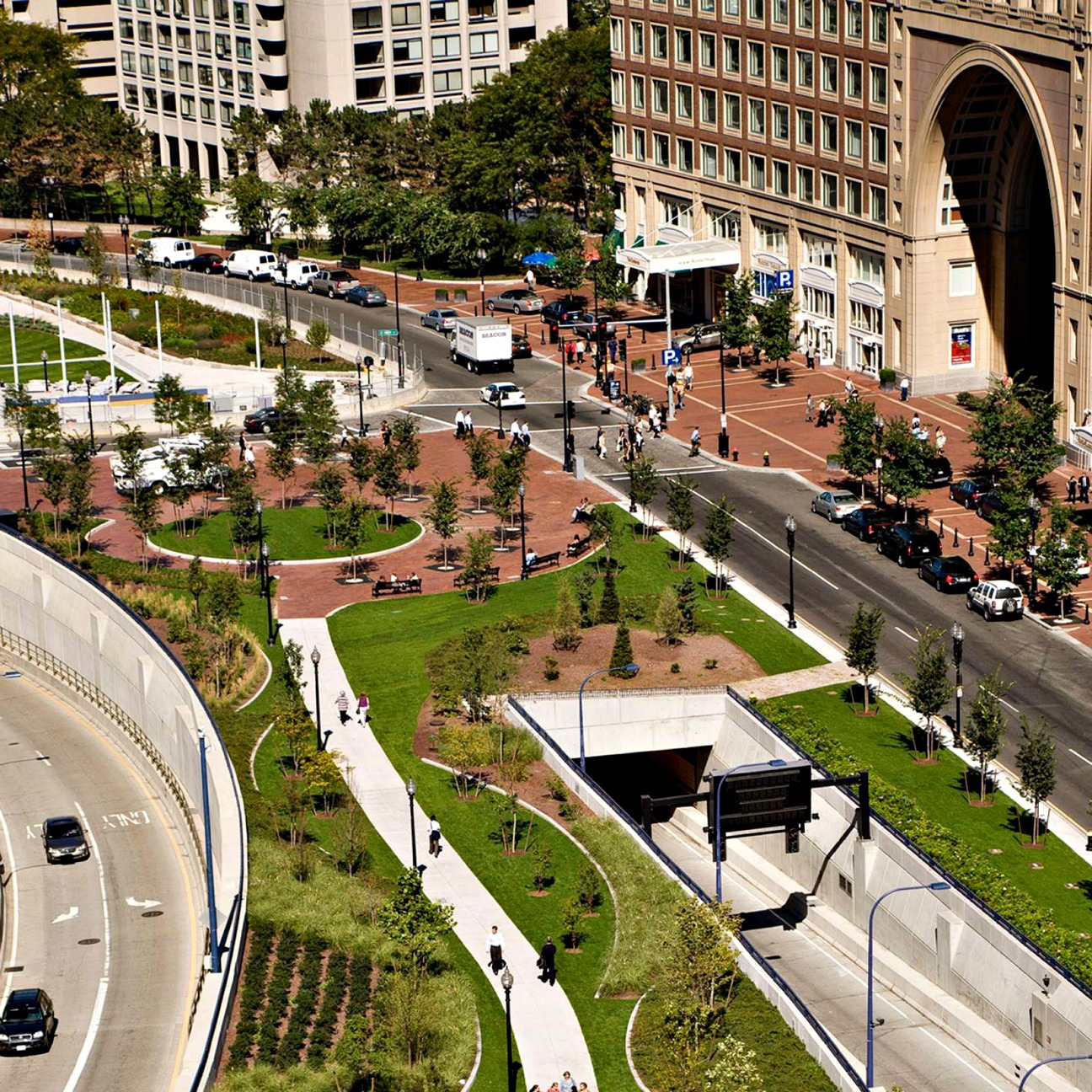 Rose Kennedy Greenway is installed by BrightView.