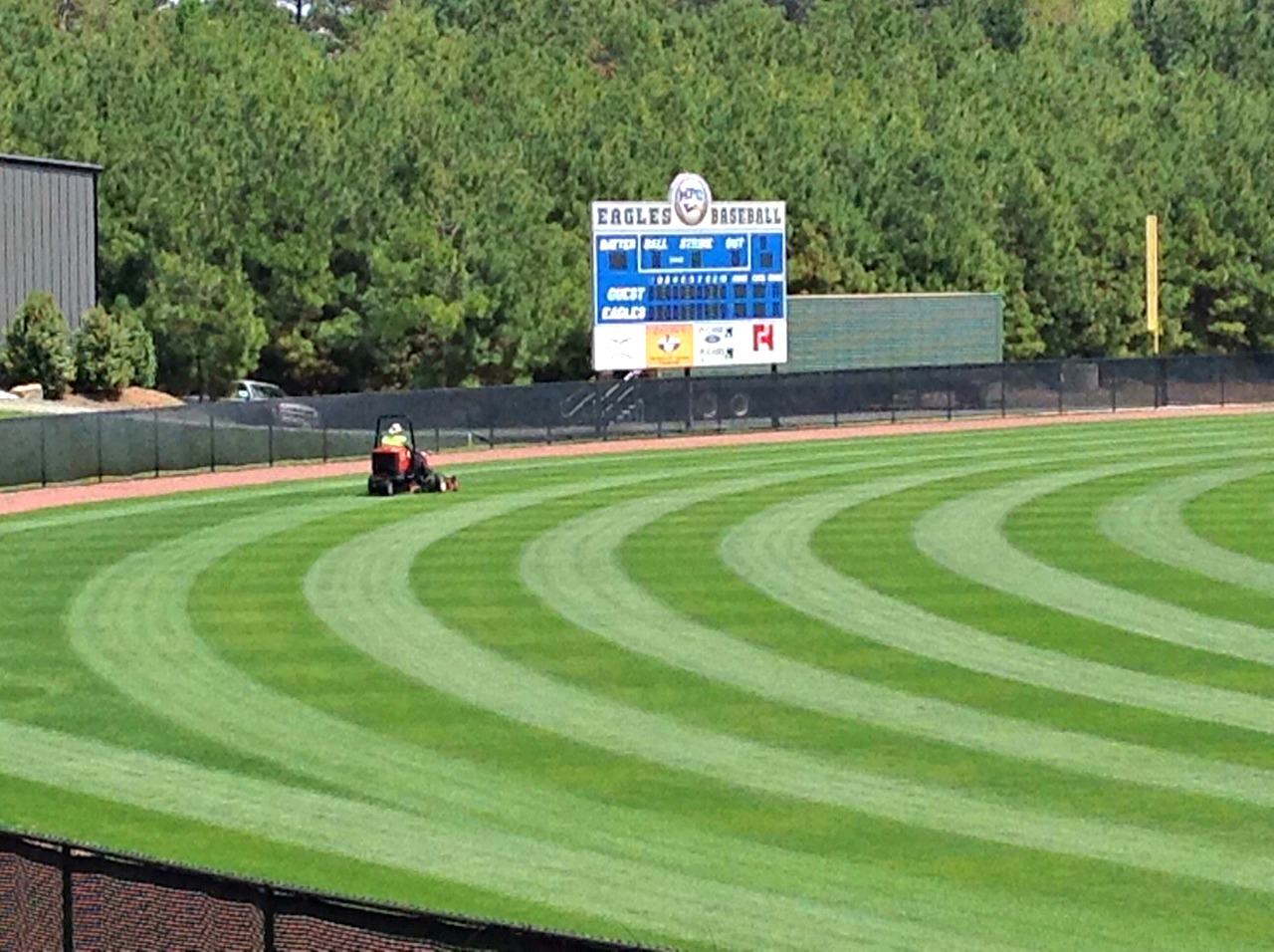 baseball field mowing lines