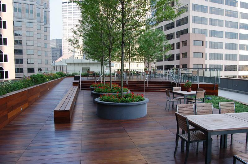 Rooftop Terraces can be used as workspaces