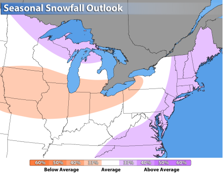 33% increase in snow fall for the Mid-Atlantic