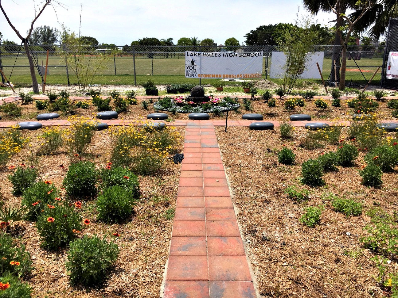 BrightView helps honor Parkland victims with reflective tranquility garden