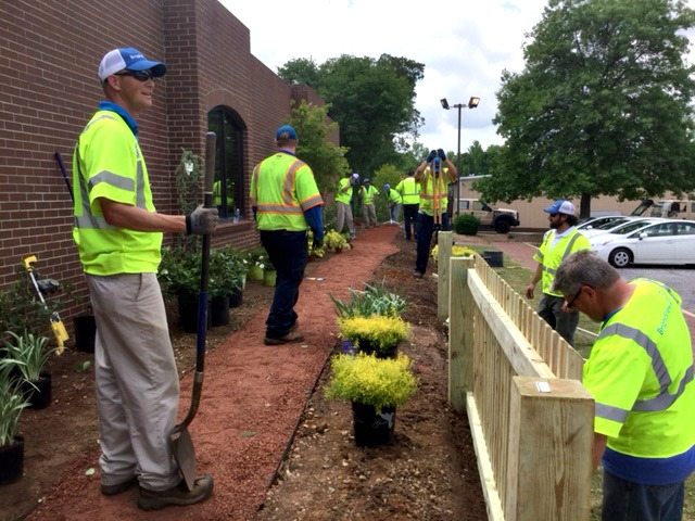 Toll BrightView Team Members Volunteered During Community Day At The Julie  Valentine Center In Greenville, S.C.