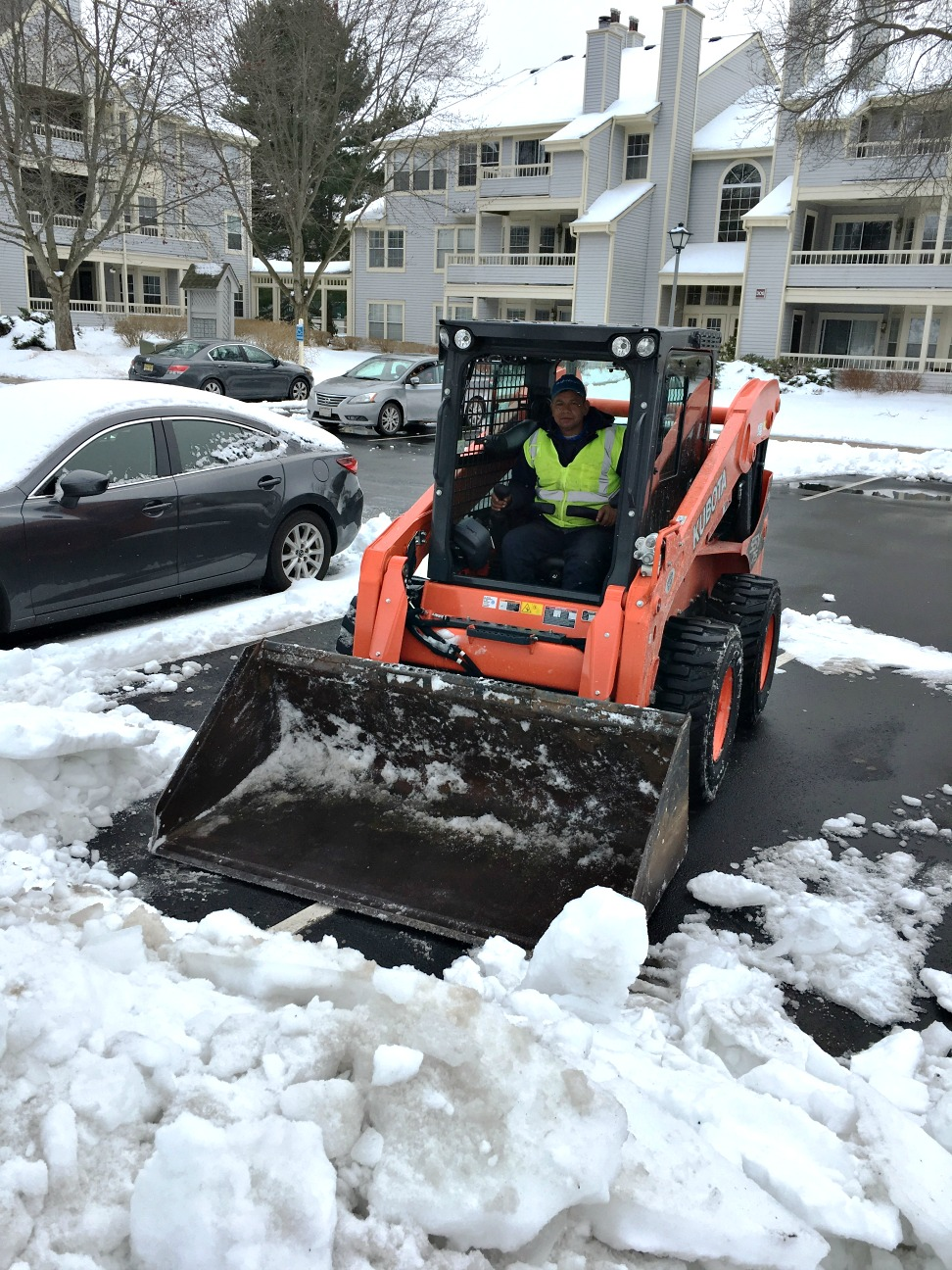 Winter Storm Stella snow northeast cleanup bobcat
