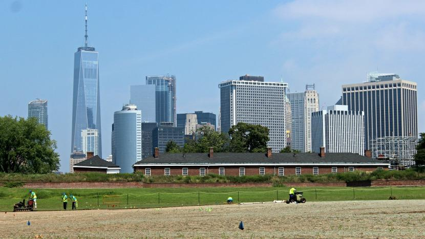 Governors Island New York Skyline