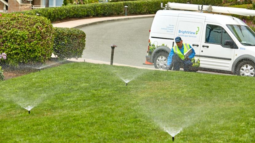 BrightView irrigation check turf