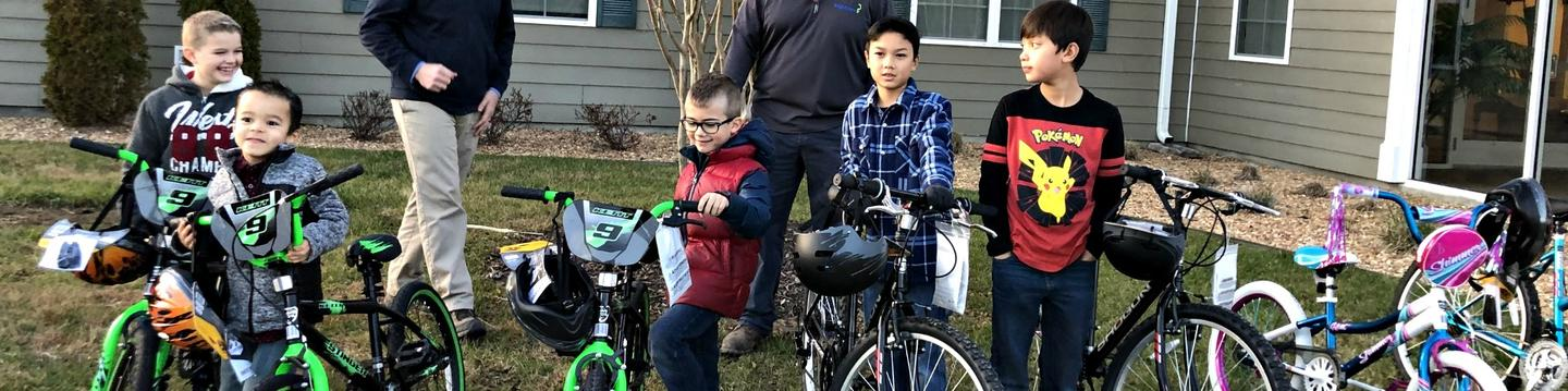 Military Family Bicycles - BrightView & Hunt Heroes Donation