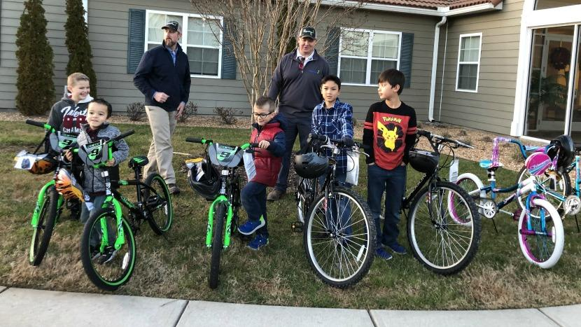 Military Family Bikes - BrightView & Hunt Heroes Donation