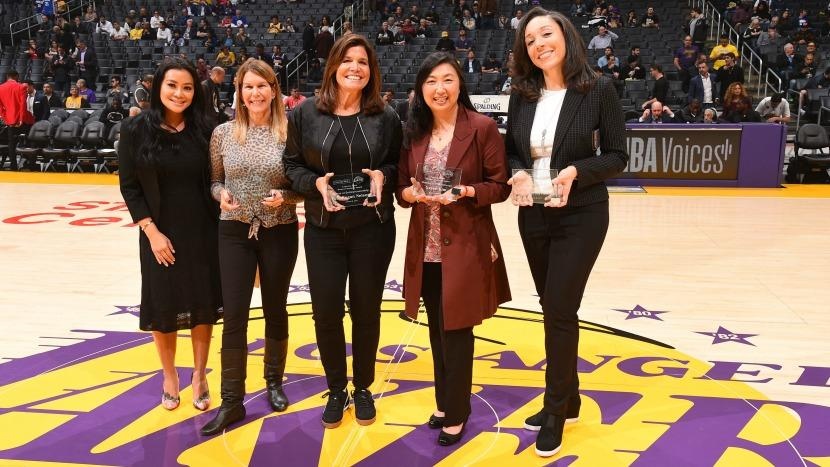 Caroline Weilert Comerica Bank award Los Angeles Lakers