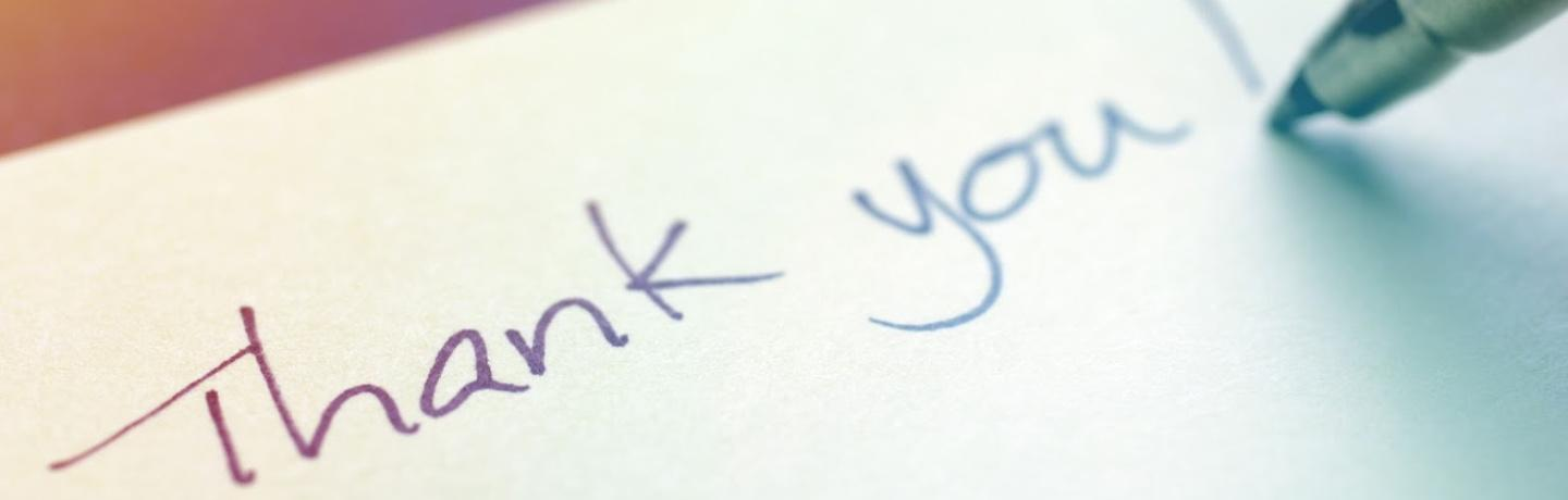 Writing a Thanks You Note